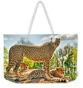 Three Cheetahs Weekender Tote Bag
