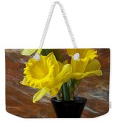 Three Daffodils Weekender Tote Bag