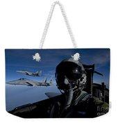 Three F-15 Eagles Fly High Weekender Tote Bag