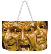 Three Faces Weekender Tote Bag