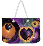 Three Hearts Weekender Tote Bag