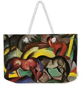 Three Horses Weekender Tote Bag