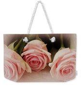 Three Pink Roses Weekender Tote Bag