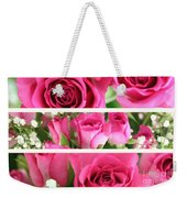 Three Pink Roses Landscape Weekender Tote Bag