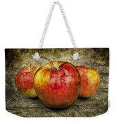 Three Red Apples Weekender Tote Bag