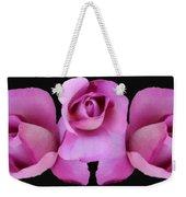 Three Roses Painterly Weekender Tote Bag