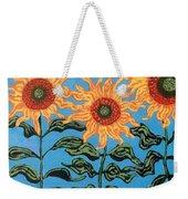 Three Sunflowers IIi Weekender Tote Bag