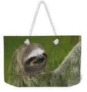 Three-toed Sloth Weekender Tote Bag by Heiko Koehrer-Wagner