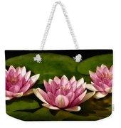 Three Water Lilies Weekender Tote Bag