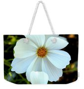 Three White Flowers Weekender Tote Bag