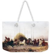 Threshing Wheat In New Mexico Weekender Tote Bag