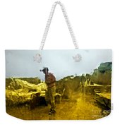 Through A Window On A Rainy Day Weekender Tote Bag