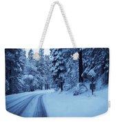 Through The Snow Weekender Tote Bag