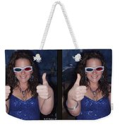 Thumbs Up - Gently Cross Your Eyes And Focus On The Middle Image Weekender Tote Bag