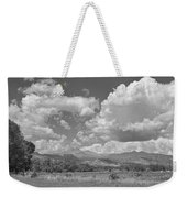 Thunderstorm Clouds Boiling Over The Colorado Rocky Mountains Bw Weekender Tote Bag