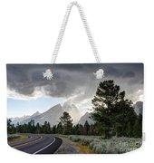 Thunderstorm On Grand Teton Road Weekender Tote Bag