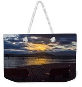 Thunderstorms At Sunrise Weekender Tote Bag