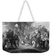 Tiger Hunt, 19th Century Weekender Tote Bag