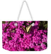 Tiger In The Phlox 5 Weekender Tote Bag