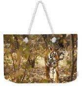 Tiger In The Undergrowth At Ranthambore Weekender Tote Bag