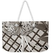 Tiger Lily And Rusty Gate Weekender Tote Bag