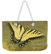 Tiger Swallowtail Butterfly - Papilio Glaucas Weekender Tote Bag