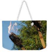 Tiki Torch Weekender Tote Bag