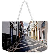 Tiled Street Of Ponta Delgada Weekender Tote Bag