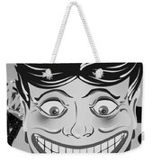 Tillie The Clown Of Coney Island In Black And White Weekender Tote Bag