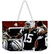 Tim Tebow  -  Ny Jets Quarterback Weekender Tote Bag by Paul Ward