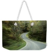Time-exposed View Of Route 49 Taken Weekender Tote Bag