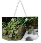 Time Exposure Of A Little Brook Flowing Weekender Tote Bag