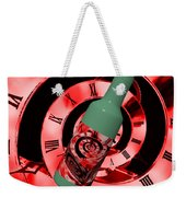 Time In A Bottle Red Weekender Tote Bag