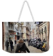 Time Warp In Malaga Weekender Tote Bag