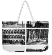Timeless Brabant Collage - Black And White Weekender Tote Bag