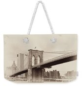 Timeless-brooklyn Bridge Weekender Tote Bag