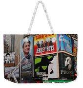 Times Square 7 Weekender Tote Bag