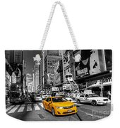 Times Square Taxi  Weekender Tote Bag