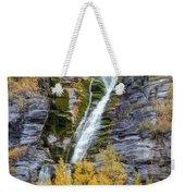 Timpanogos Waterfall In The Fall - Utah Weekender Tote Bag