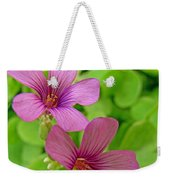 Tiny Flowers In The Clover Weekender Tote Bag