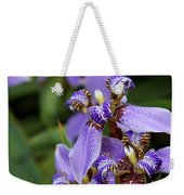 Tiny Purple Iris Weekender Tote Bag