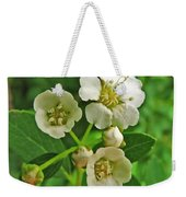 Tiny White Flowers Of A Bush Weekender Tote Bag