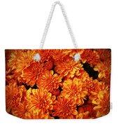 Toasted Orange Chrysanthemums Weekender Tote Bag