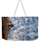 Todd Skinner Climbing A Rock Face Weekender Tote Bag