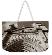 Toledo Cathedral Entrance In Sepia Weekender Tote Bag