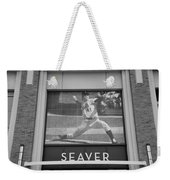 Tom Seaver 41 In Black And White Weekender Tote Bag