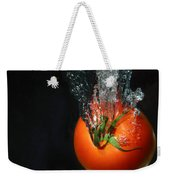 Tomato Falling Into Water Weekender Tote Bag