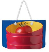 Tomato In Stacked Bowls Weekender Tote Bag