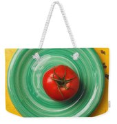 Tomato On Green Plate Weekender Tote Bag