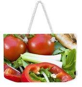 Tomato Salad Close Up Weekender Tote Bag